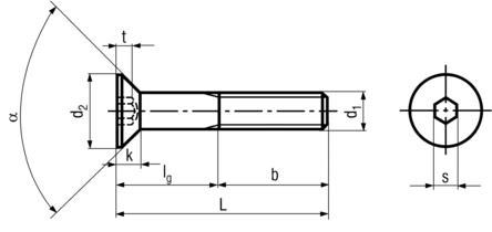Din 7991 Screw Dimensions