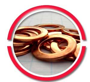copper flat washer