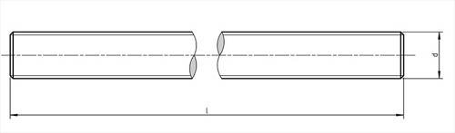 DIN 976-1 Stud Bolts Dimensions