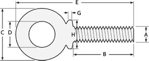 Dimensions Standard of SS Forged Eye Bolts