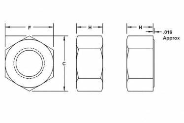 Astm A194 Grade 7 Heavy Hex Nut Dimension