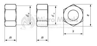 Iso 4032 Hex Regular Nut Dimensions
