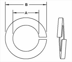 Copper Spring Washer Dimensions