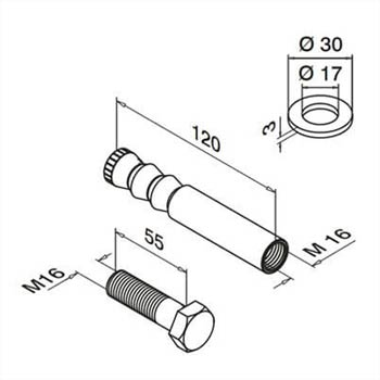 Stainless Steel Anchor Bolts Dimensions