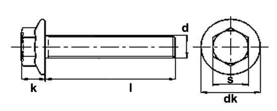 Stainless Steel Flange Bolts Dimensions
